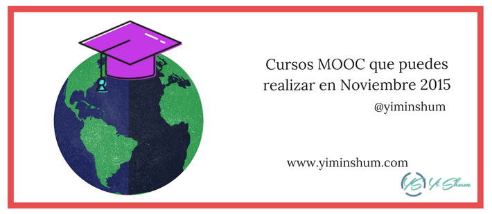 Cursos MOOC que puedes realizar en Noviembre