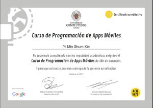 certificado de apps móviles