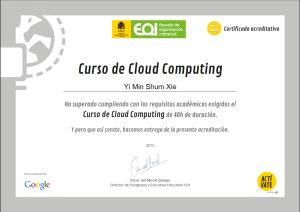 certificado cloud computing