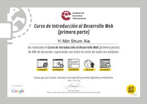 certificado de desarrollo web actívate