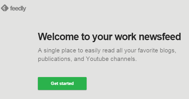 get started feedly