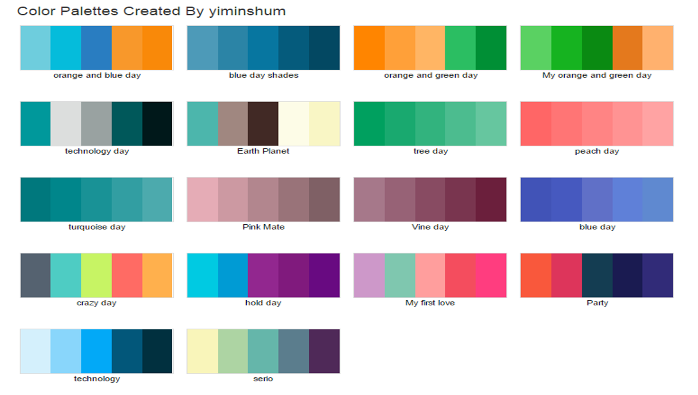 Infograf a corporativa yi min shum xie - Paleta de colores titanlux ...