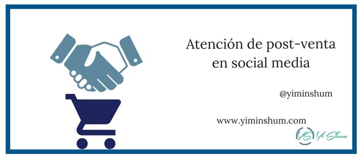 Atención de post-venta en social media imagen