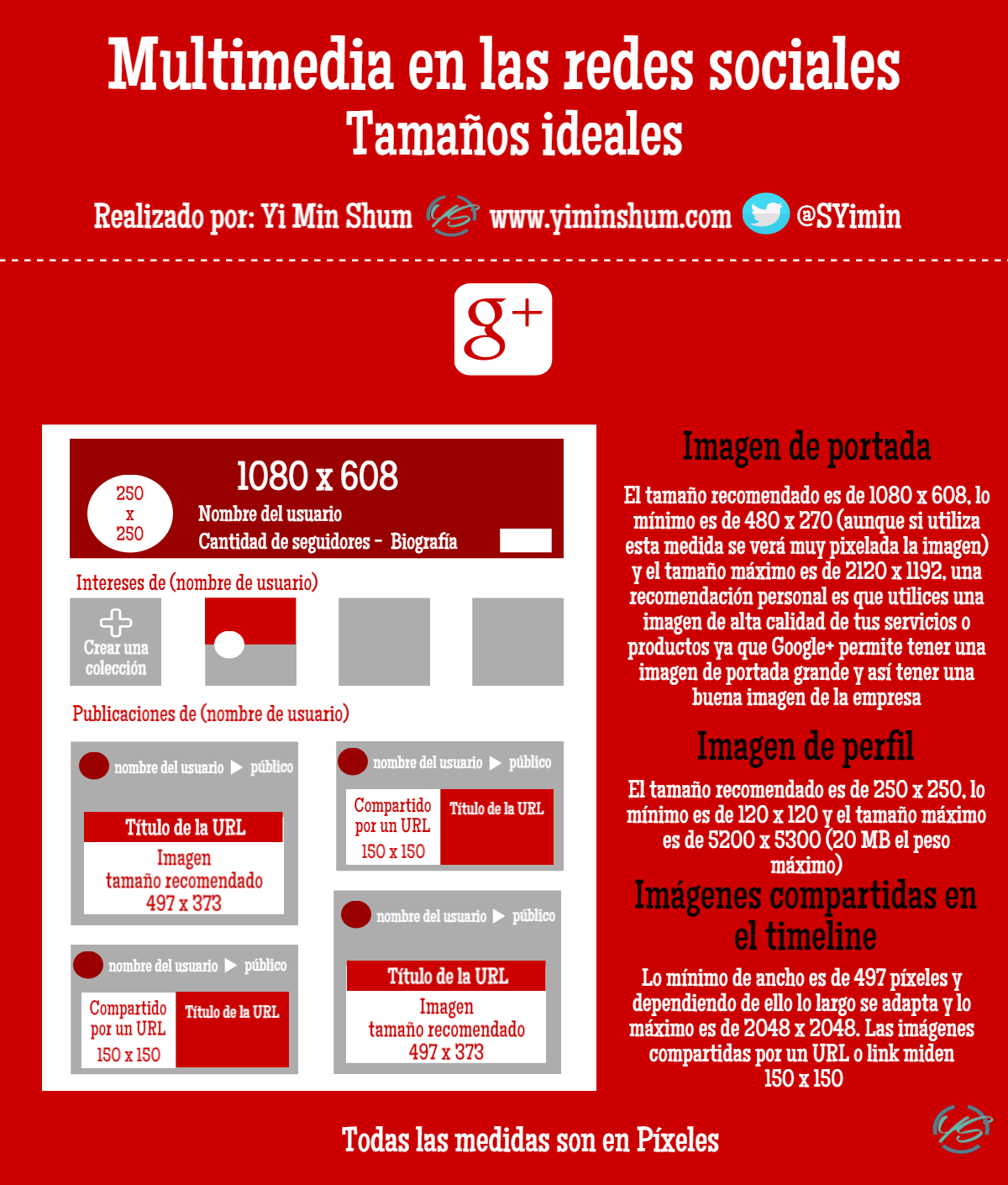 multimedia en la red social Google+ infografía