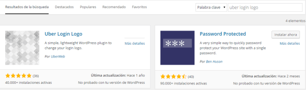 buscar el plugin uber login en wordpress