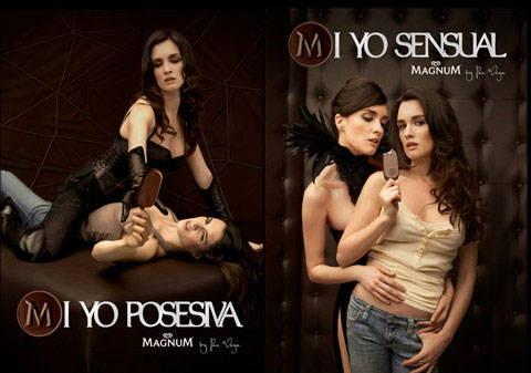 publicidad sensual del helado magnum