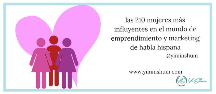 las 210 mujeres más influyentes en el mundo de emprendimiento y marketing de habla hispana imagen