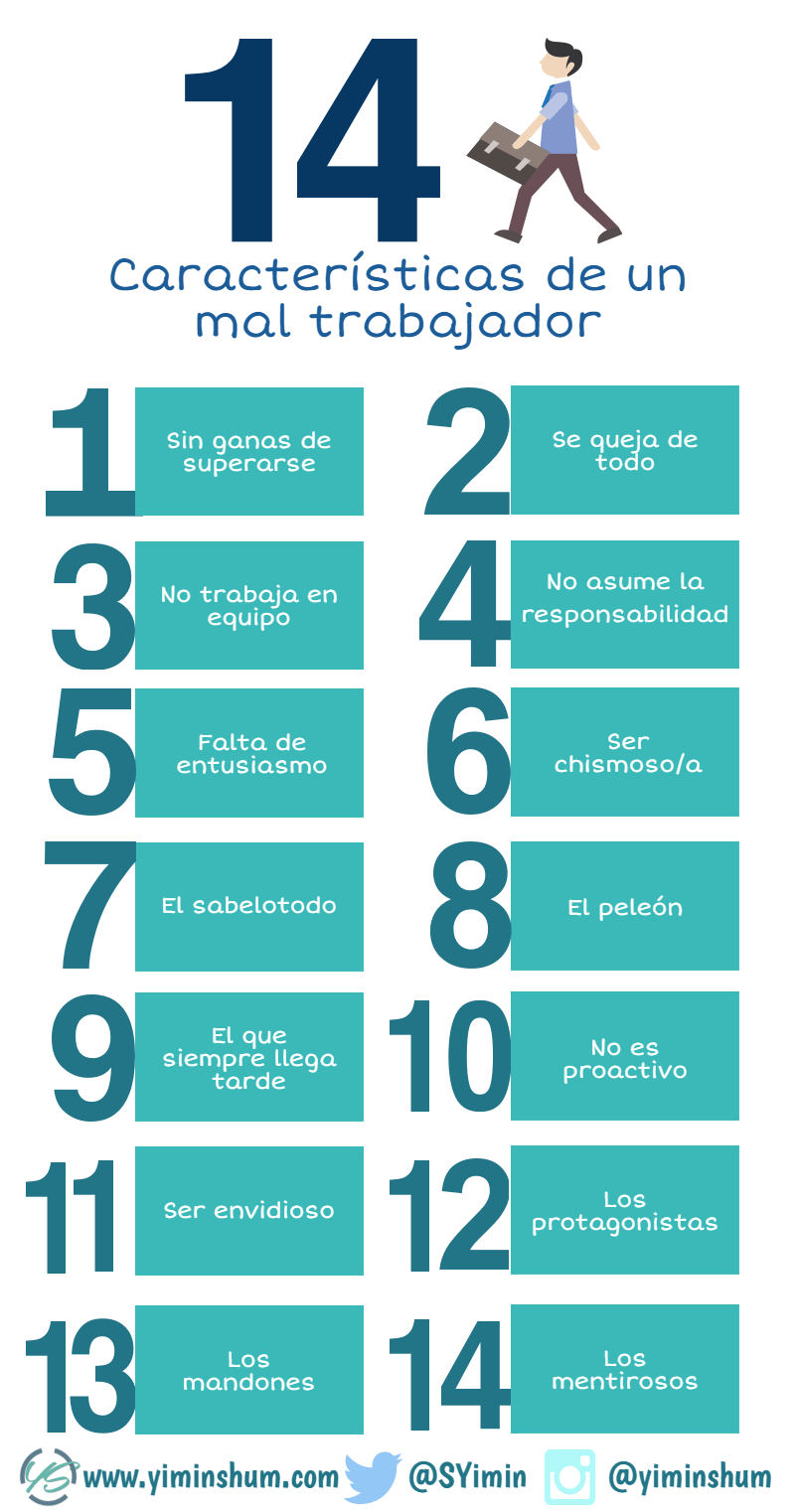 las 14 características de un mal trabajador infografía