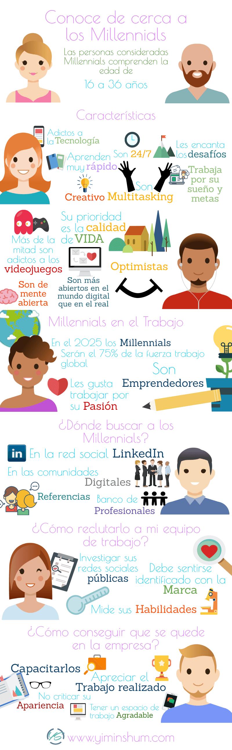 conoce de cerca a los millennials con esta infografía