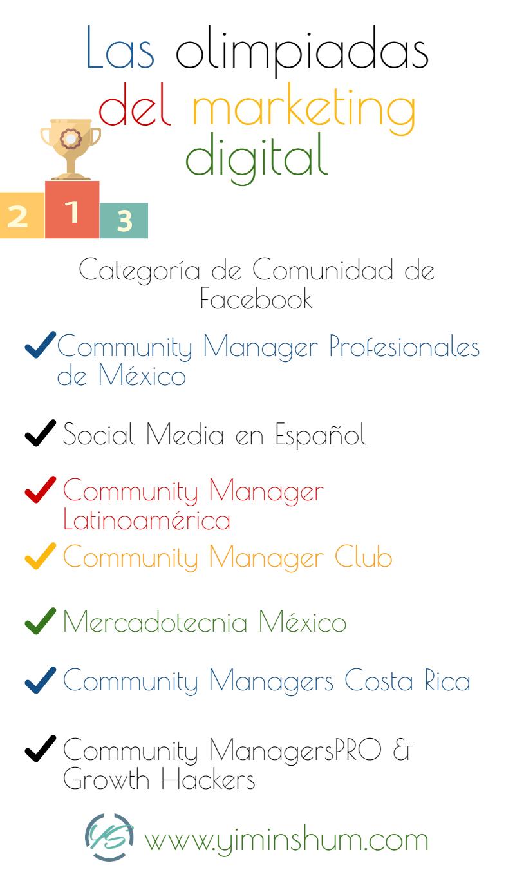olimpiada por comunidad de facebook infografía