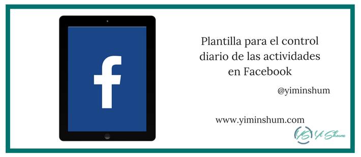 Plantilla para el control diario de las actividades en Facebook artículo imagen