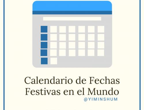 Calendario de fechas significativas o festivas en el mundo