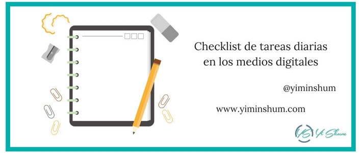 Checklist de tareas diarias en los medios digitales