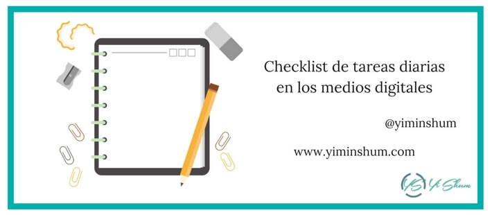 Checklist de tareas diarias en los medios digitales imagen
