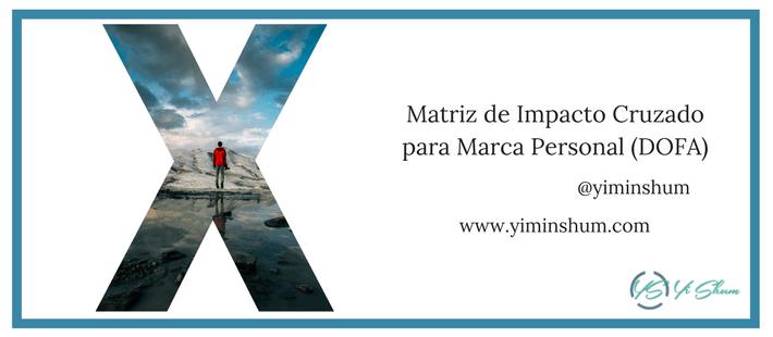 matriz de impacto cruzado para marca personal imagen