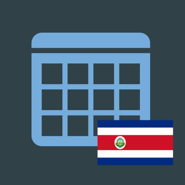 Calendario de efemérides en Costa Rica 2018 imagen
