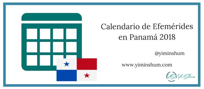 Calendario de efemérides en Panamá 2018