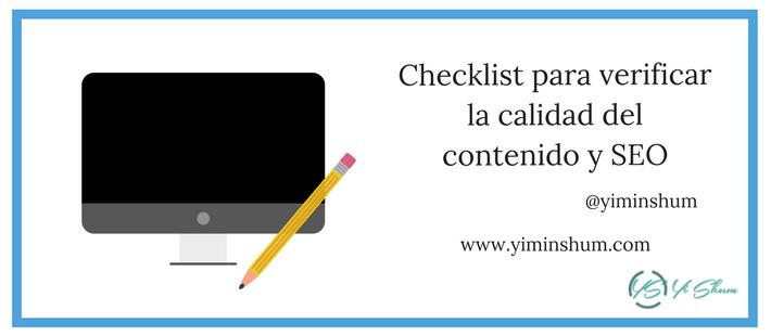 Checklist para verificar la calidad del contenido y SEO imagen