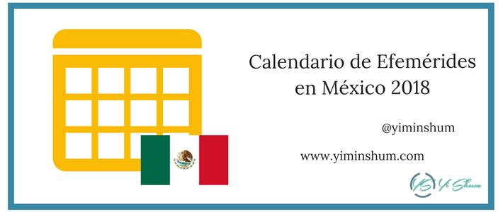 Calendario de efemérides en México 2018