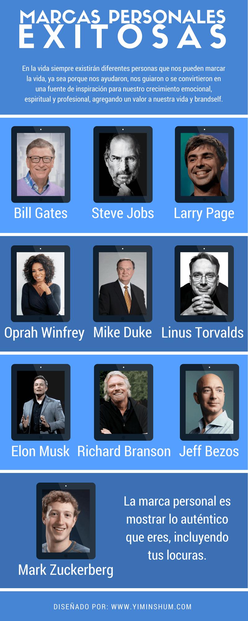 10 marcas personales exitosas infografía