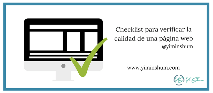 Checklist para verificar la calidad de una página web imagen