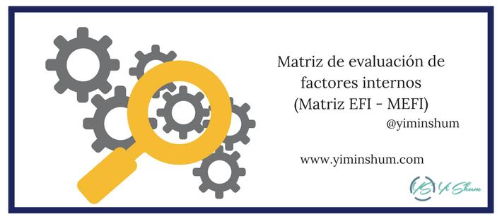Matriz de evaluación de factores internos imagen