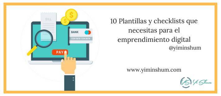10 Plantillas y checklists que necesitas para el emprendimiento digital