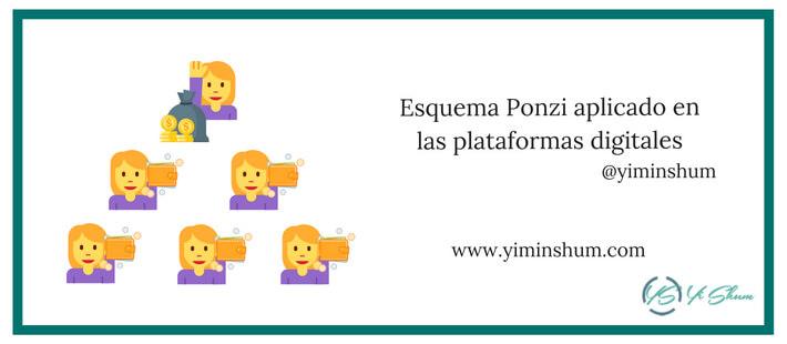 Esquema Ponzi aplicado en las plataformas digitales imagen