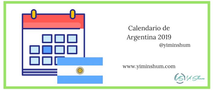 Calendario de argentina fechas festivas 2019 imagen