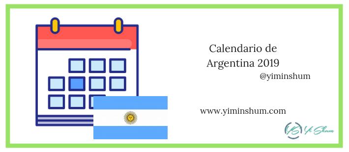 Calendario Panama 2019 Con Festivos.Calendario De Fechas Festivas De Argentina 2019 Yi Min