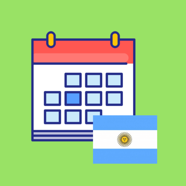 Calendario de fechas festivas Argentina 2019 imagen