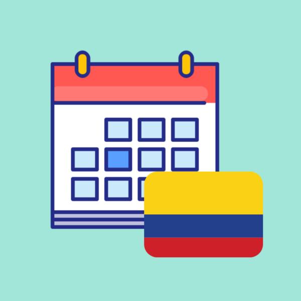Calendario de fechas festivas en Colombia 2019 imagen producto