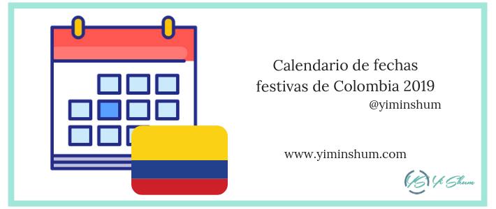 Calendario de fechas festivas en Colombia 2019 - imagen