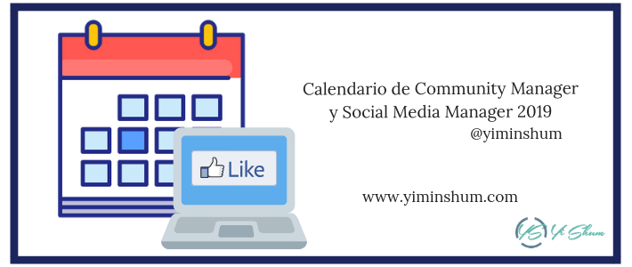 Calendario de Community Manager y Social Media Manager 2019 imagen