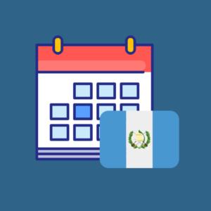 Calendario de efemérides de Guatemala 2019 producto