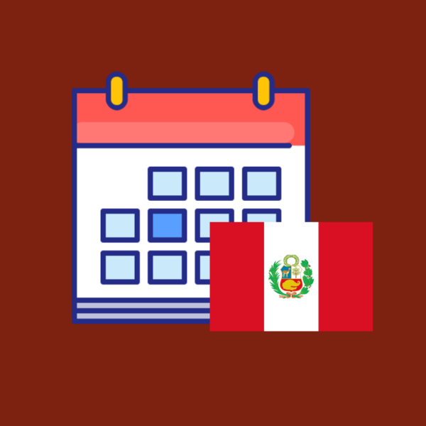 Calendario de efemérides de Perú 2019 producto