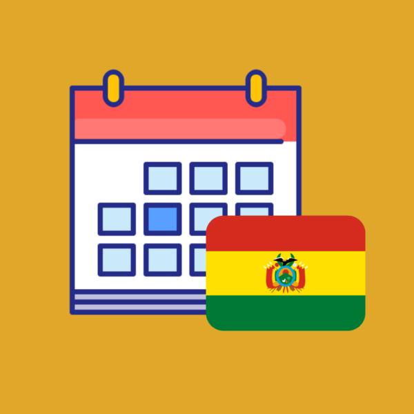Calendario de efemérides en Bolivia 2019 nuevo