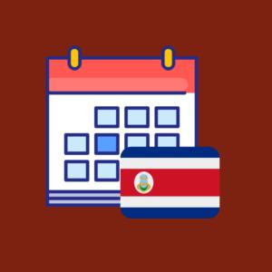 Calendario de efemérides en Costa Rica 2019 producto imagen