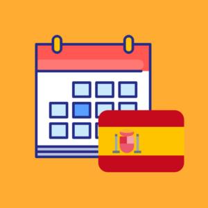 Calendario de efemérides en España 2019 producto