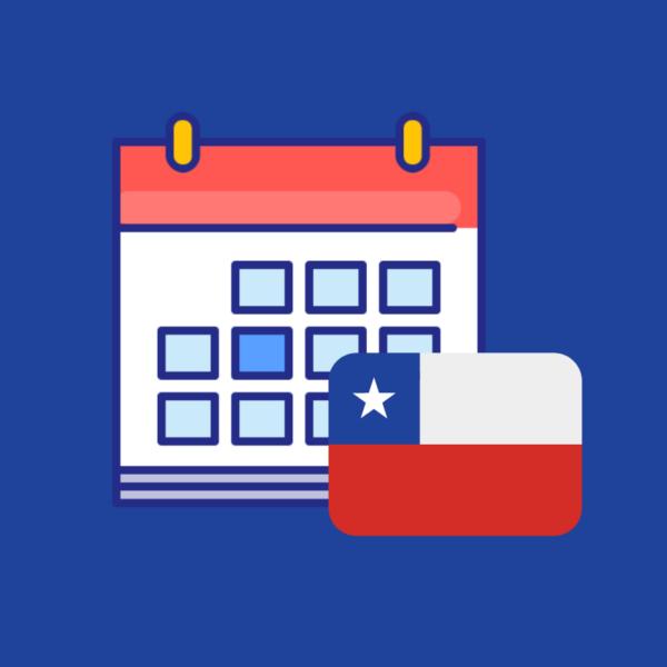 Calendario de efemérides en el Chile 2019 producto