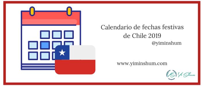 Calendario de fechas festivas de Chile 2019