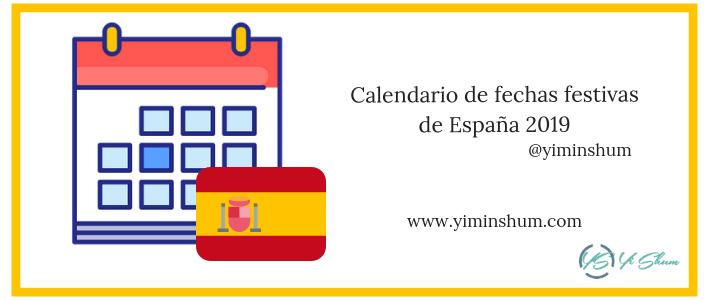 Calendario de fechas festivas de España 2019 imagen