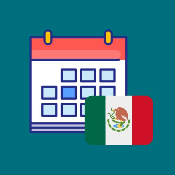 Calendario de fechas festivas México 2019 imagen
