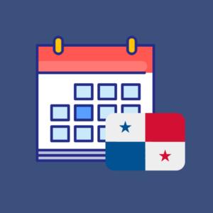 Calendario de fechas festivas de Panamá 2019 producto