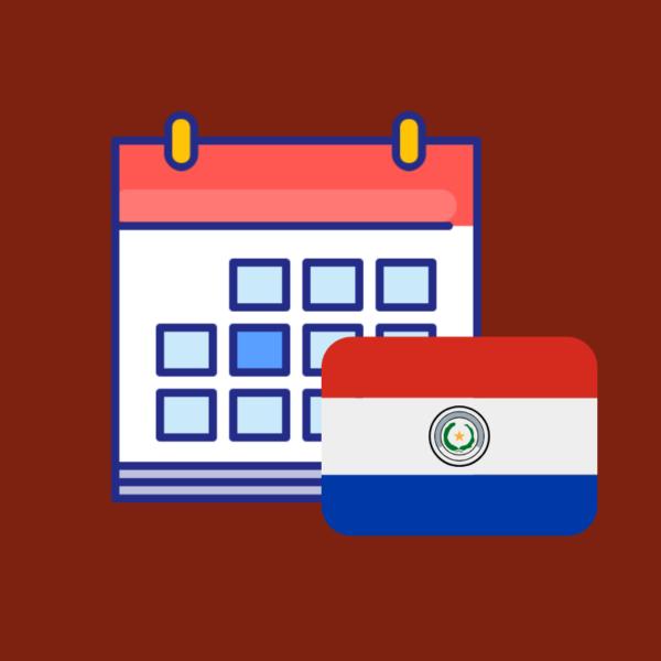 Calendario de fechas festivas de Paraguay 2019 producto