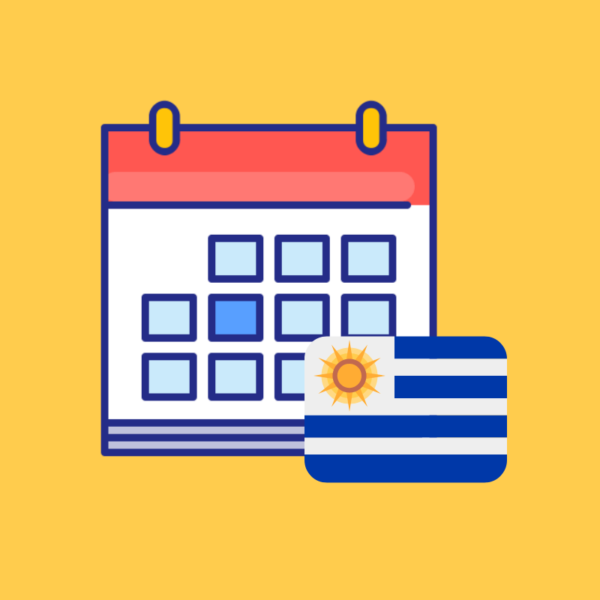 Calendario de fechas festivas de Uruguay 2019 producto