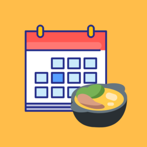 Calendario de fechas festivas gastronómicas 2019 producto imagen