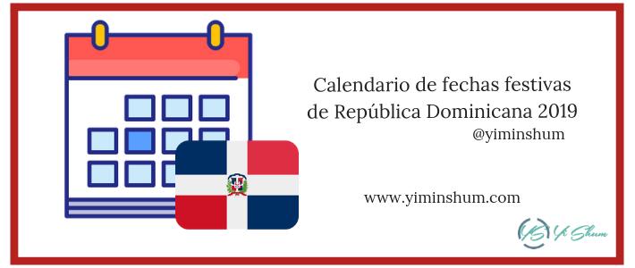 calendario de efemerides en República Dominicana 2019
