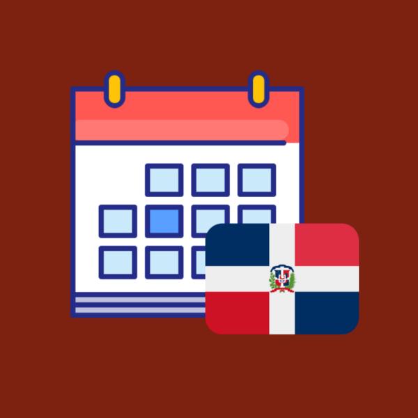 calendario de efemerides en República Dominicana 2019 producto