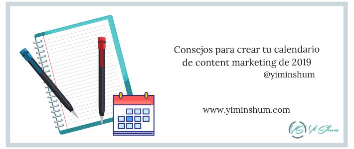 Consejos para crear tu calendario de content marketing de 2019 imagen
